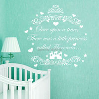 Personalized Name Once Upon A Time There Was A Little Princess Called Wall Decal Castle Art