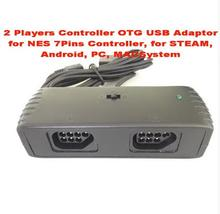 2 Players Controller OTG USB Adaptor for NES 7Pins Controller, for STEAM, Android, PC, MACSystem