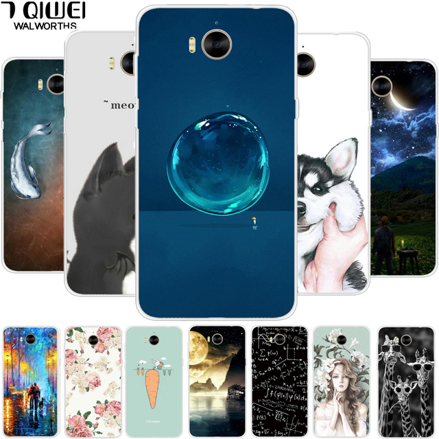 FOR HUAWEI Nova Young MYA L11 L41 Case 5.0 Soft TPU Fish Cartoon Cover for Huawei Y6 2017 / Y5 2017 Cover Silicone Phone Case