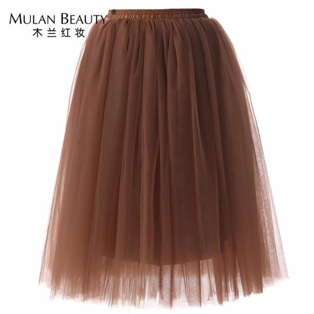 65 cm Elástico Larga Falda de Tul Tutú de La Falda de dama de Honor de La Boda Nupcial de la Ducha Falda Tutú Faldas de Cintura Alta Falda de Midi