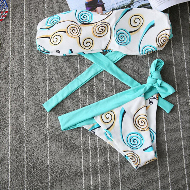 High Quality Sexy push up bikinis women bikini 2016 push up swimwear blue swimsuit bathing suits swimming suit for women bikini