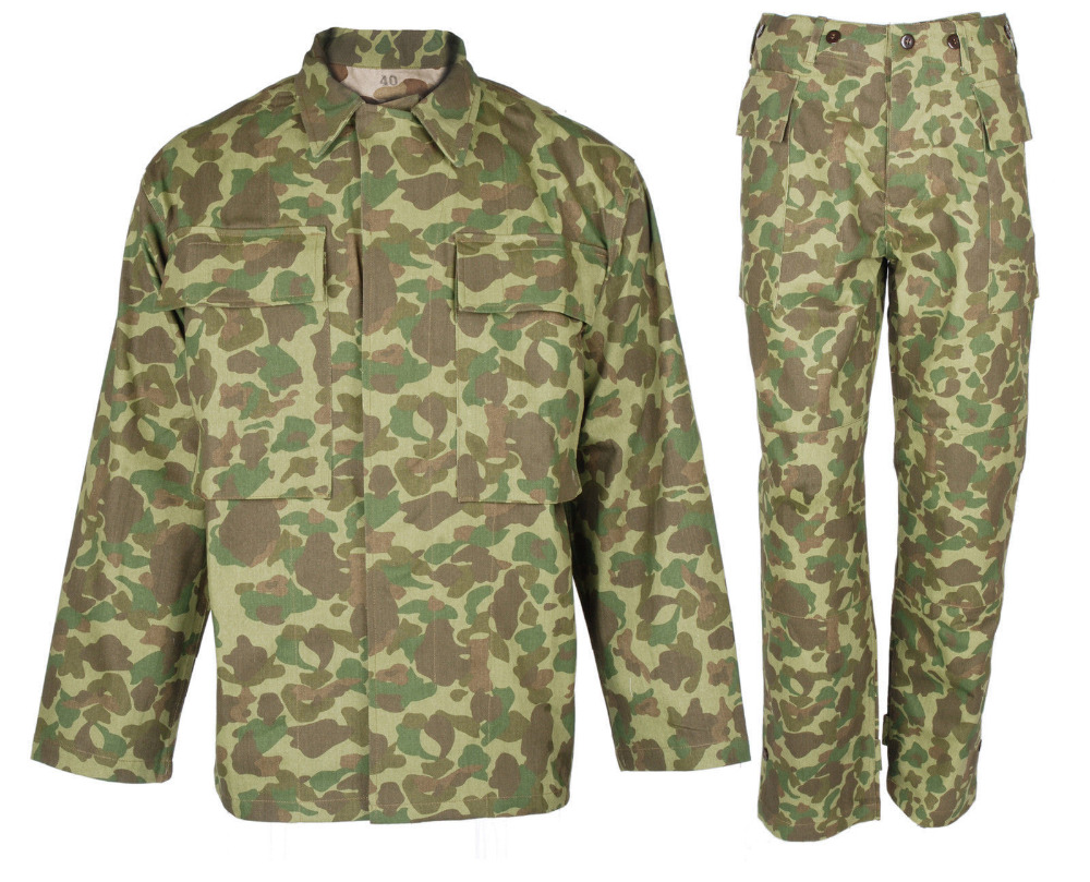 WWII WW2 US ARMY PACIFIC P42 HBT SOLIDER COMBAT MILITARY UNIFORM SET JACKET TROUSERS IN SIZES