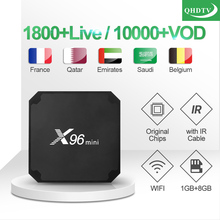 цена на France IPTV X96 mini 1 Year QHDTV Arabic French IPTV Code S905W Smart Subscription TV Box X96 Morocco French IPTV Belgium IP TV