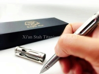 Titanium TC4 EDC Business Personal Defense Tactical Pen With Tungsten Carbon Tip Emergency Hammer 137mm Long