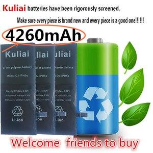 Image 2 - Nuevo Original Kuliai AAAAA calidad batería del teléfono para iphone 6 6s 6sp 6 P 7 p de alta capacidad Real cero Cycel con kit de herramientas de reparación