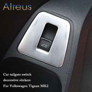 Atreus 1pcs Stainless Steel Trunk Switch Button Panel Stickers For Volkswagen Tiguan 2 VW Tiguan 2017 2016 2018 Auto Accessories(China)