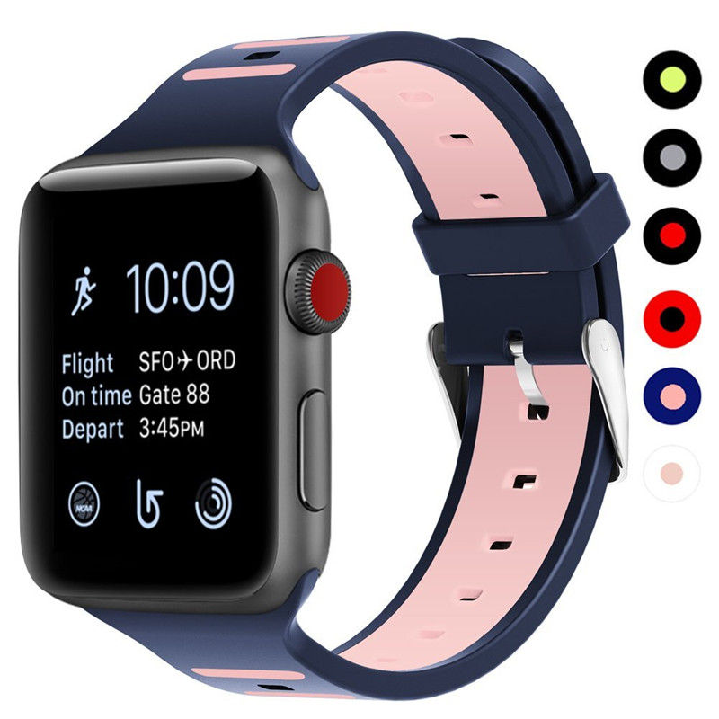 ASHEI Watchband for Apple Watch 3 Strap 42mm Soft Silicone Wristbelt Replacement Band for iWatch Sport Bands Series 2 1 38mm 6 colors luxury genuine leather watchband for apple watch sport iwatch 38mm 42mm watch wrist strap bracelect replacement