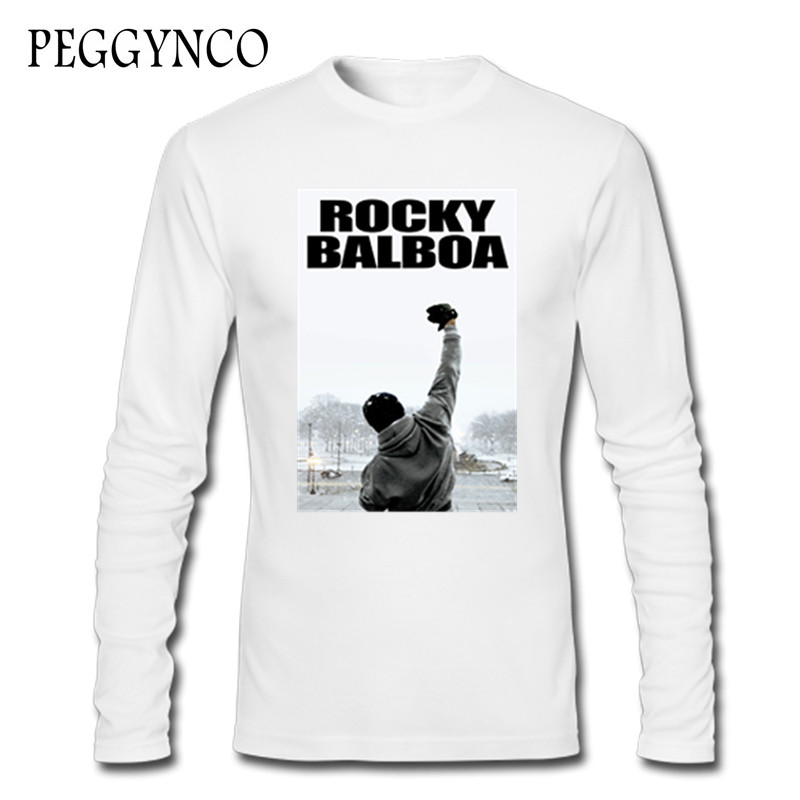 Rocky Balboa Natural Cotton Long Sleeve Tshirs Funny Adult Cool T Shirt Women