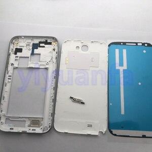 Image 5 - Сменный Чехол с полным корпусом, запасные части для Samsung Galaxy Note 2 II N7100, задняя панель со средней рамкой и переднее стекло