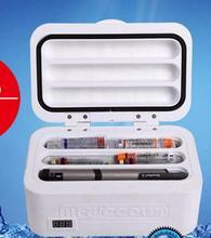 Инсулина холодильный шкаф зарядки сокровище дом автомобиль с тремя refrigerating box переносной охладитель температуры небольшой холодильник