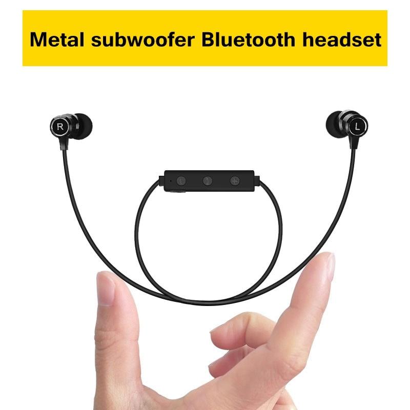 bilder für Bluetooth kopfhörer magnet metall sport basswireless ohrhörer stereo headset mit mikrofon für iphone 7 6 5 s xiaomi samsug huawei