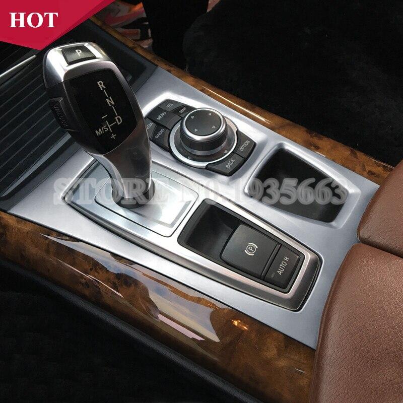 Pour BMW X5 X6 E70 E71 Console centrale intérieure boîte de vitesses panneau couvercle garniture 2010-2014 1 pièces
