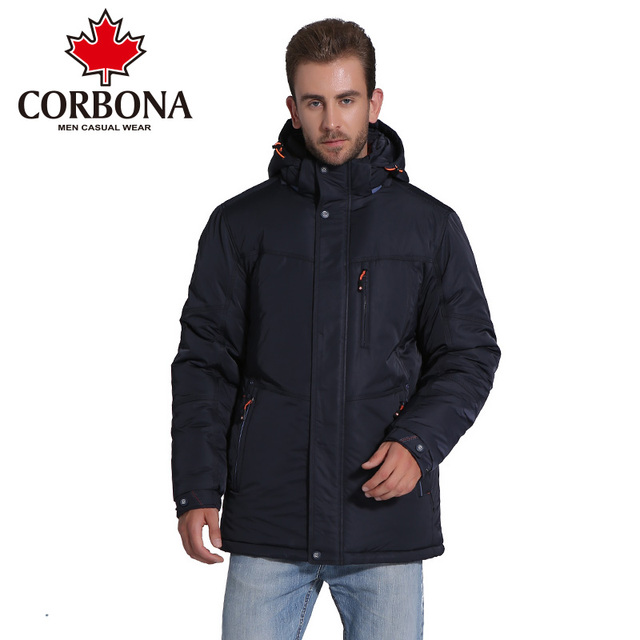 Big Promo CORBONA Winter Men Jacket Brand Casual Mens Thick Warm Jackets Coats  Parka Men Outwear Clothing Coat