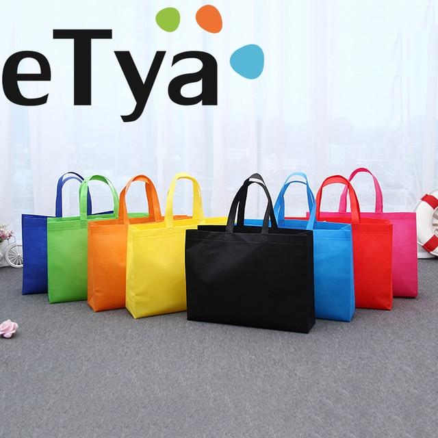 eTya Large Capacity Women Shopping Bags Reusable Shopper Handbags Non-Woven  Fabric Canvas Shoulder Bag dde796ad69