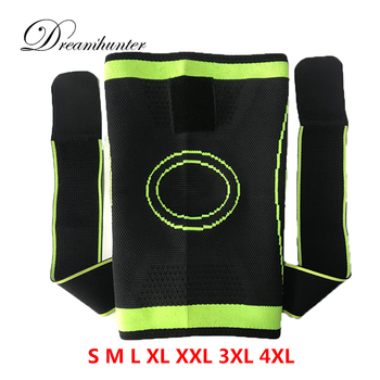 4XL basketball tennis hiking cycling knee brace support 3D weaving Pressurized Straps bandage Sports knee pads Patella Guard 1pc 1