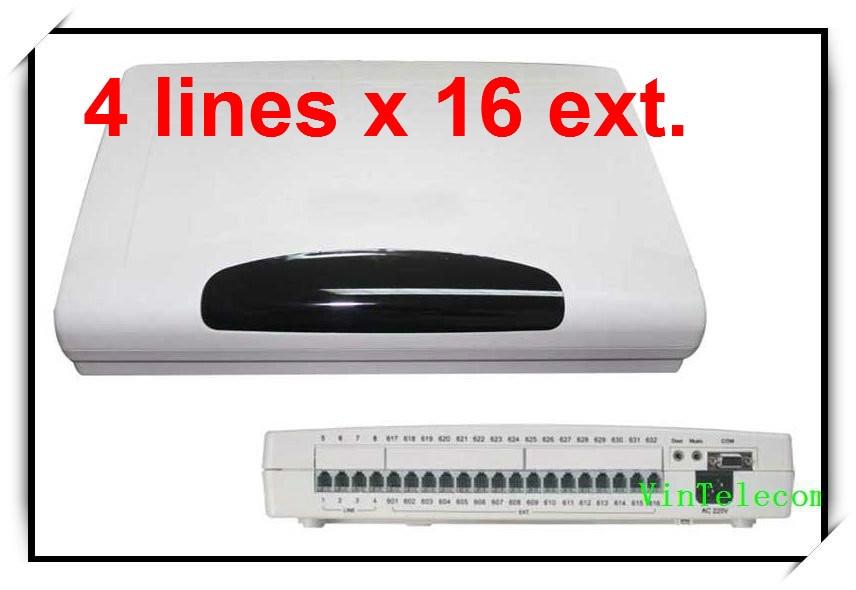 CP416 Téléphone PABX commutateur avec 4 Lignes x 16 Extensions/PBX Téléphone système avec le meilleur prix