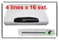 Interruptor CP416 PABX Telefone com 4 Linhas x 16/Extensões de PBX sistema de Telefone com melhor preço