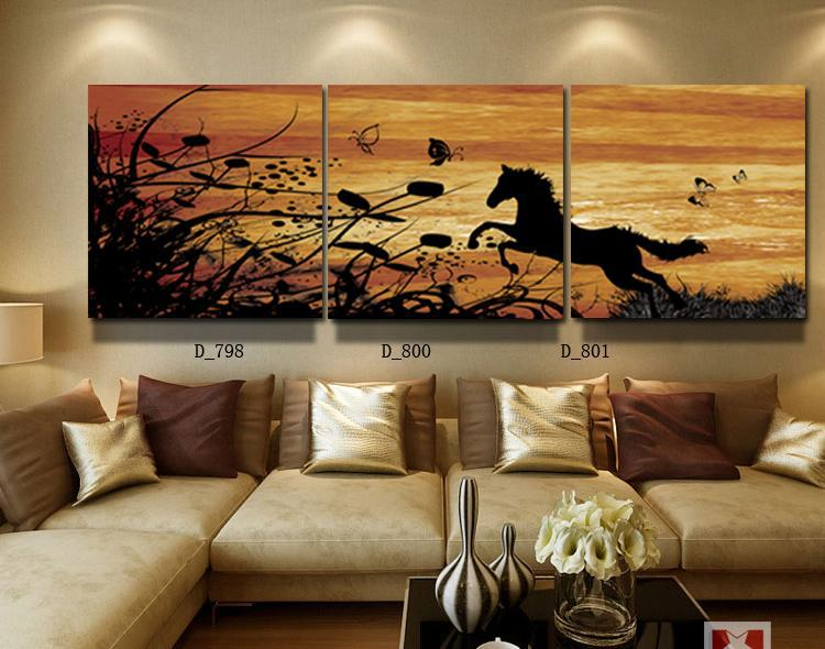 Running Horse Paintings Hang On The Living Room Landscape Wall High Quality Printing Canvas For Friends Gift Free Shipping In Painting Calligraphy From