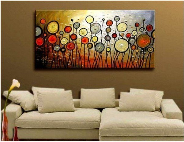Hot sale new modern abstract great big canvas painting art for Large canvas prints for sale