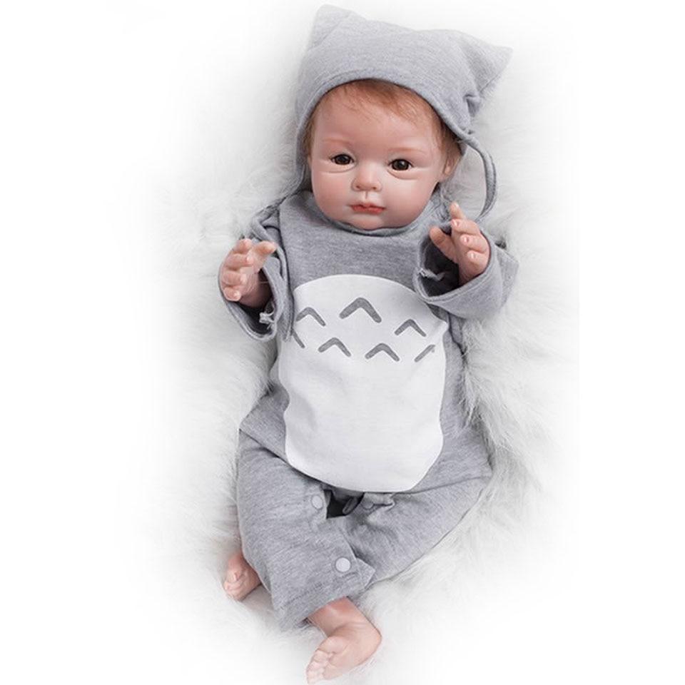 Реалистичные Этническая Куклы Reborn Baby Куклы 22 55 см мягкие силиконовые детские жив Кукла одежда так действительно Игрушки для маленьких дет...