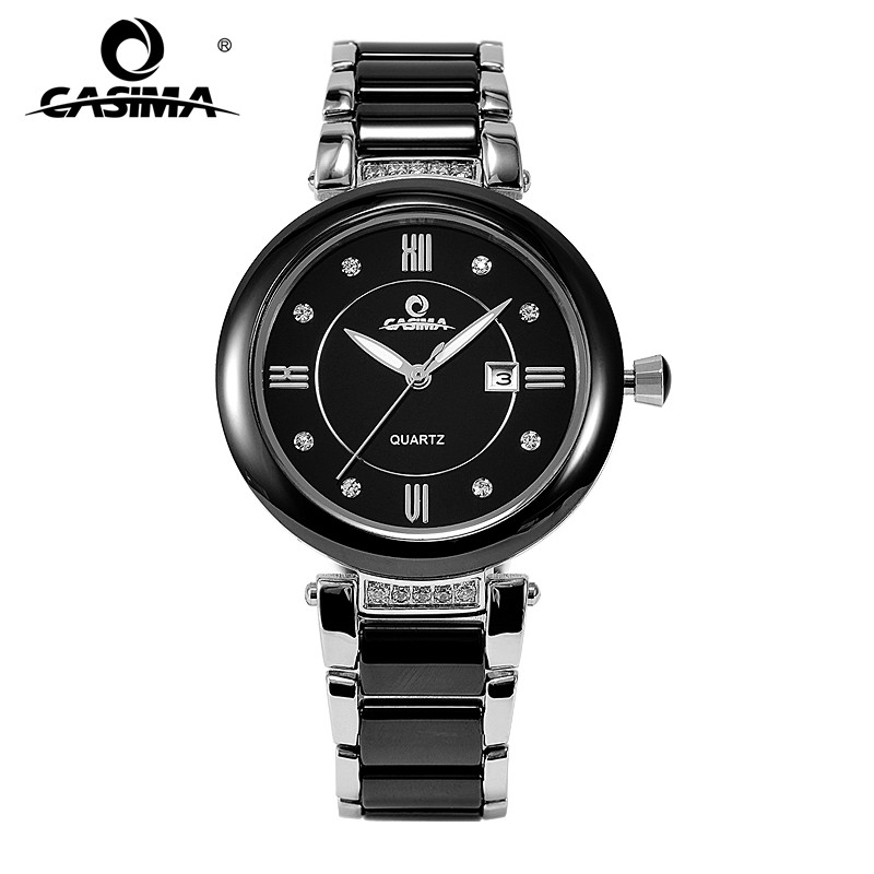 Buy casima luxury brand watches women fashion elegance casual ceramic table for Casima watches