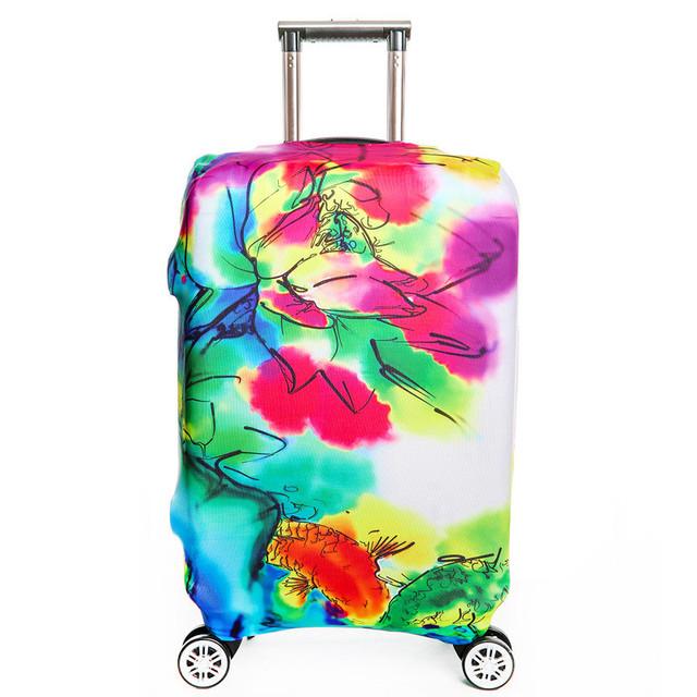 Menina bonita Flor Padrão de Moda Mala de Bagagem Tampas De Proteção de Impressões 18 ~ 32 polegada Elástico Saco Trolley de Viagem Elasticidade
