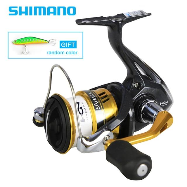 19f95f58f00 Shimano Original SAHARA FI Spinning Fishing Reel 1000 2000 2500 3000 4000  5000 4+1BB