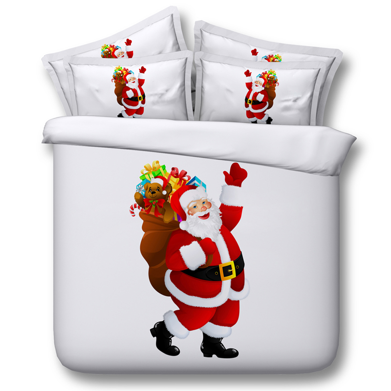 3d bed linens Santa Claus quilt covers children bedding sets 3/4pc bedspreads twin queen king size 500tc Christmas gift boy girl