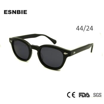 High Quality Acetate Glasses Sunglasses Men Round Small Retro Rivet Sunglasses Women Sun Glasses Uv400 Occhiali Da Sole Donna