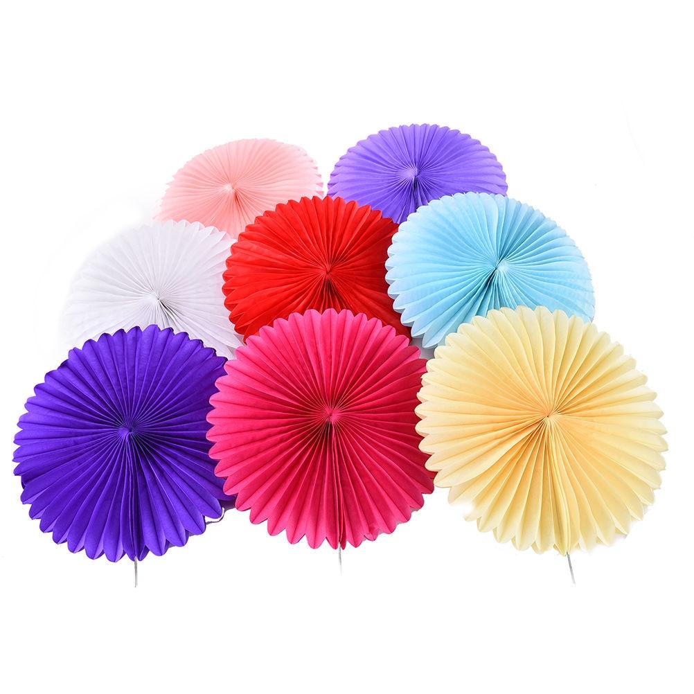 HENGHOME 1PC Tissue Paper Fan Crafts Hanging Wedding Supplies ...