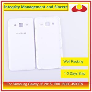 Image 2 - 50 pçs/lote Para Samsung Galaxy J5 2015 J500 J500F J500FN J500H Habitação Porta Da Bateria Voltar Tampa Traseira Caso Shell Chassis Substituição