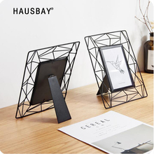 Wrought Iron Skeleton Hollow Photo Frame 6 Inch Photo Frame Creative Desktop Children Picture Frame Family Home Decoration 05434