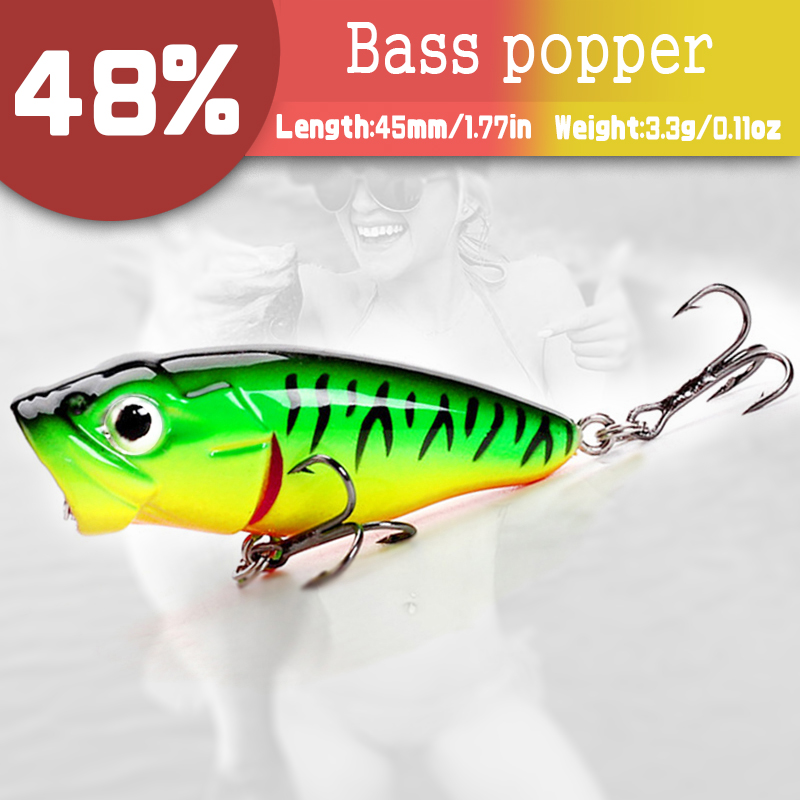 5 Lure Assortment-B-Bass Fishing Crankbaits/& Topwater Poppers-New-Ships Free