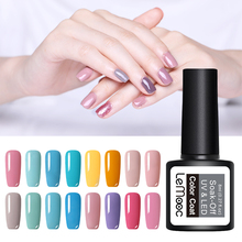 LEMOOC 8ML Pink Nail Color Series Gel Polish 186 Colors Soak Off UV Led Varnish DIY Long Lasting Art Laquer