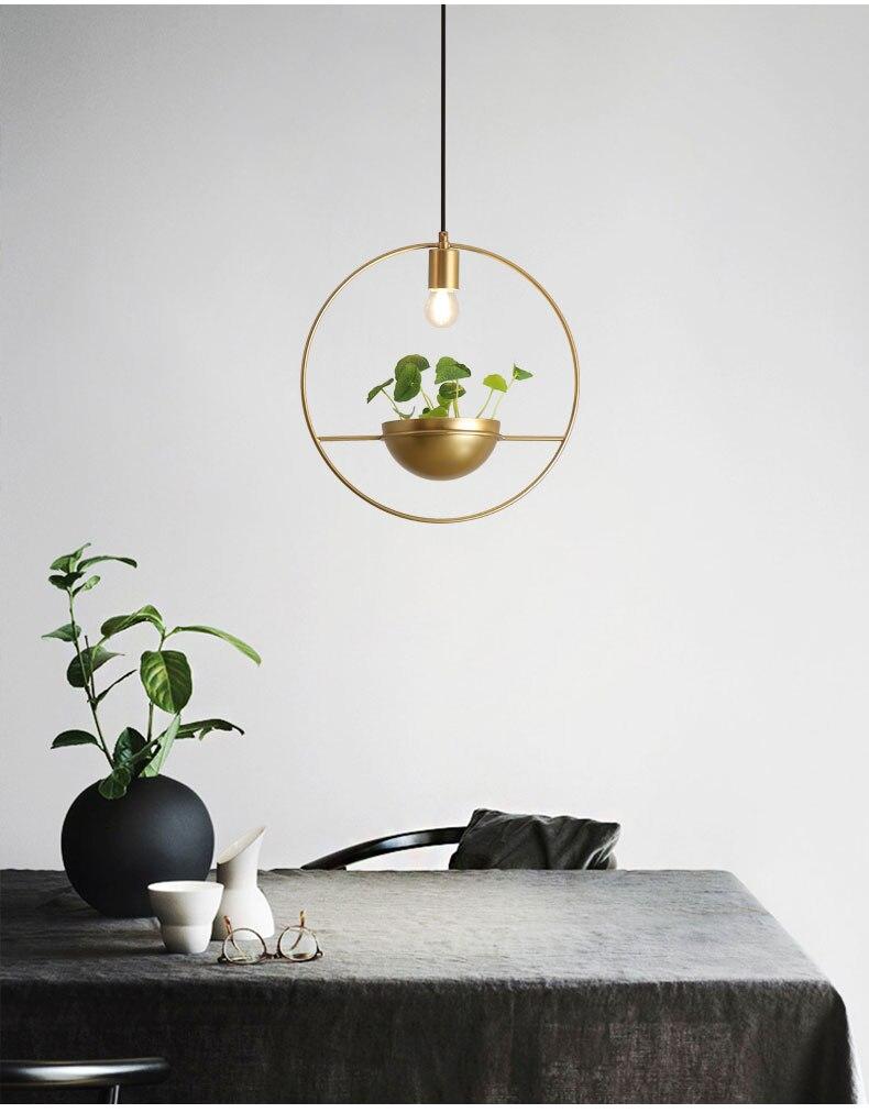 北欧餐厅灯简约创意个性吧台单头床头奶茶店服装店小吊灯植物灯具-tmall_02