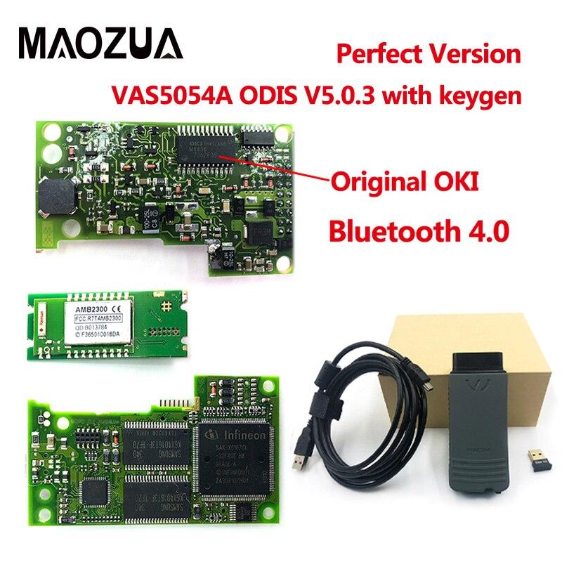 2019 Date VAS 5054A ODIS V5.0.3 Keygen OKI Plein Puce Bluetooth 4.0 AMB2300 VAS5054A VAS5054 UDS Pour VAG Outil De Diagnostic