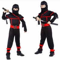Costumes d'halloween classiques Costume Cosplay Arts martiaux Costumes Ninja pour enfants décorations de fête fantaisie fournitures uniformes