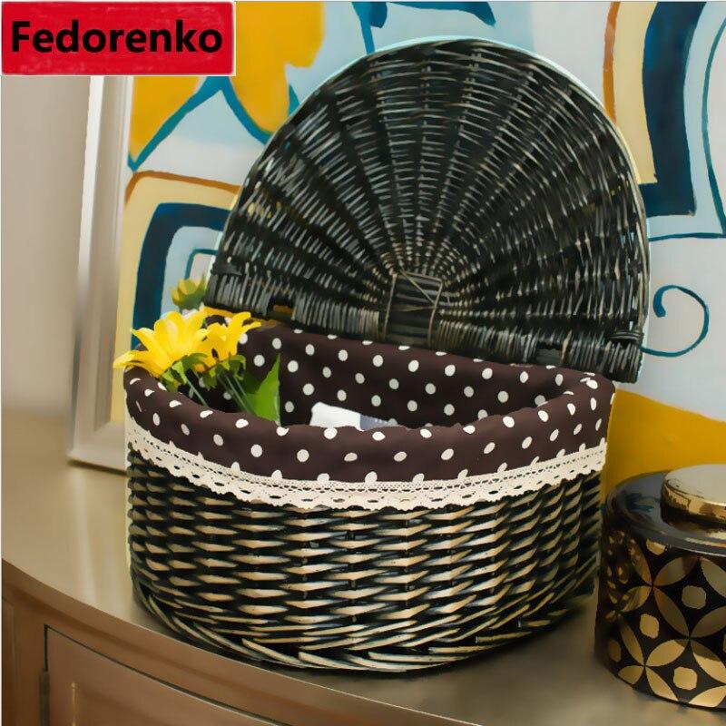 Wicker toy laundry baskets rattan Hamper with Lid storage boxes sundries organizer cesto brinquedos lavanderia kosz na zabawki in Storage Baskets from Home Garden