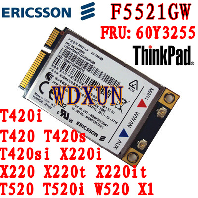 original F5521GW 21Mbps Wireless card 3G module for ThinkPad IBM lenovo X220 W520 T420