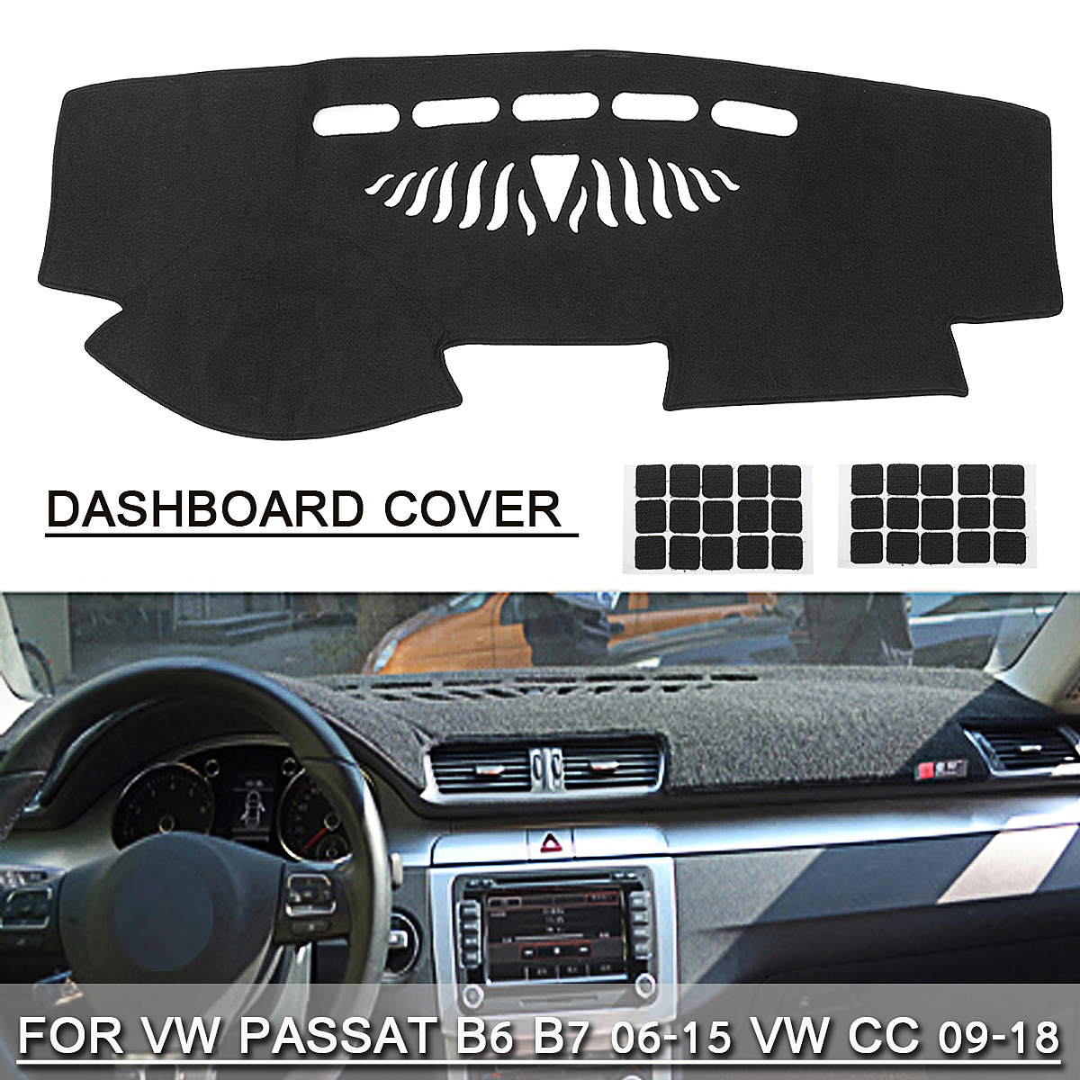 Car DashBoard Cover Mat Carpet Pad Dash Board Avoid Light Mat Black for Volkswagen VW Passat B6 B7 2006-2015 Passat CC 2009-2017 for opel astra k vauxhall holden astra 2009 2015 leather dashmat dashboard cover car pad dash mat sunshade carpet cover car
