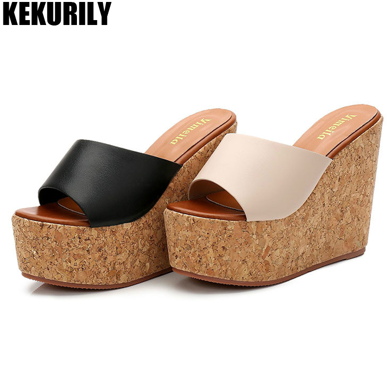 Platform Shoes Woman Summer Slippers