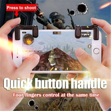 Version 3 Smart Phone Mobile Gaming Trigger Shooter Toy For Knives out/ Rules of Survival/ PUBG Mobile Game Fire Button Aim Key(China)