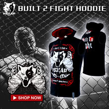 VSZAP MMA Hooded outdoor hoodies vest Wolf head boxer Keep warm Breathable Sweatshirts Men Sporting jackets(China)