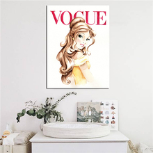 Beauty And Beast Belle Vogue Magazine Cover Art Canvas Poster Painting Wall Picture Print Modern Home Bedroom Decoration Artwork
