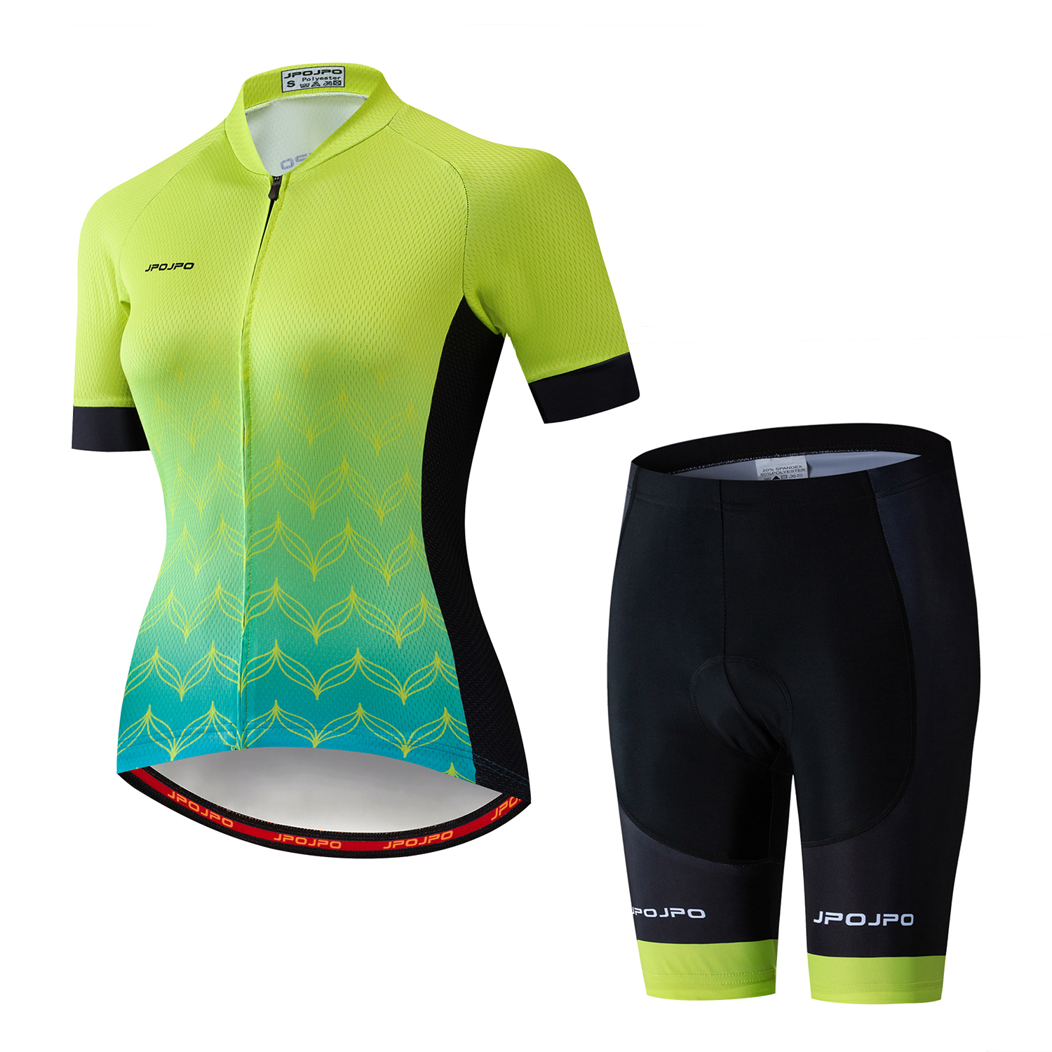 2019 MTB Bike Jersey bib shorts set Ropa Ciclismo maillot Women Cycling jersey Suit bicycle Top shirts Bottom Female team Green|Cycling Sets| |  - title=