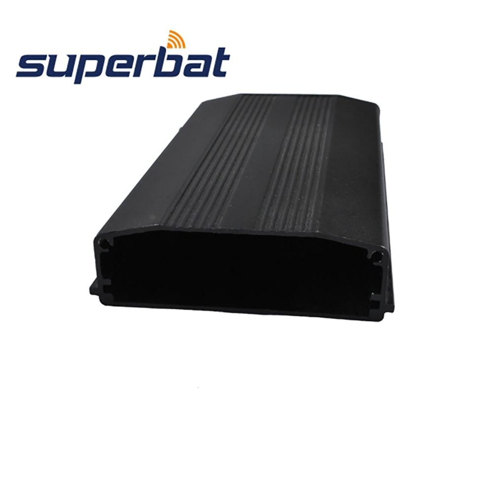 Superbat 110*64.5*20MM Anodized Black Extruded Instrument Amplifier PCB Aluminum Enclosure Electronic Case 4.32