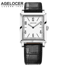Watch Women AGELOCER Original Montre Femme Dress Watches Luxury Ladies Watch Clock Female Casual Leather Women's Wristwatches