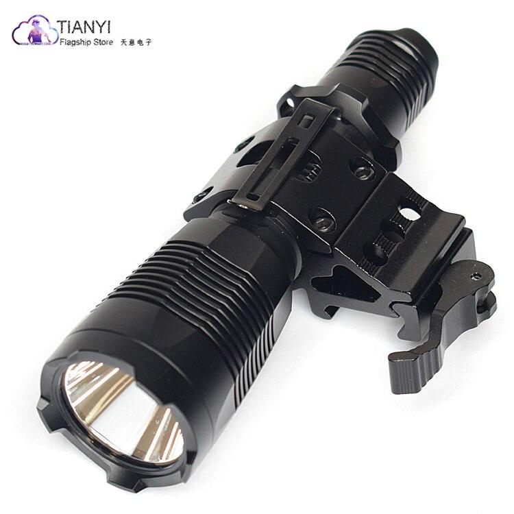 Lampe de poche Torche À Distance pressostat 5 Mode TrustFire 1000Lm Tactique Light Scout Airsoft lampe de Poche Chasse Rail Mount 25 MM
