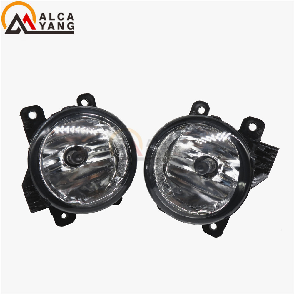 For Mitsubishi L200 OUTLANDER 2 PAJERO 4 Grandis 2003-2015 Car styling Halogen fog Lights lamps 1set комплект проставок для лифт кузова pajero 2