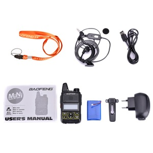 Image 5 - 100% Original BAOFENG BF T1 MINI Walkie Talkie UHF 400 470MHz Portable T1 Two Way Radio Ham Radio Amador Micro USB Transceiver